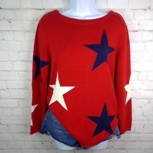 Norton Studio Star Print Sweater